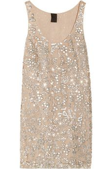 Vera Wang Sequined tulle top | THE OUTNET