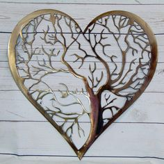 Heart Tree Of Life Pewter