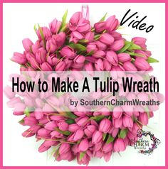 How To Make a Spring Tulip Wreath using discounted tulip bushes. This is easy peasy. #howto #diy