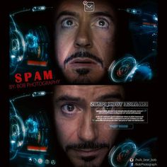 Spam #ironman #spam #jarvis #mail #helmet #view #robertdowneyj #funnypictures #art #photomanipulation #bobphotography