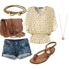 The shorts are too short, and realistically I would probably never wear this...  But I do like it.  :)