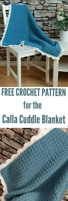 FREE CROCHET PATTERN for the Calla Cuddle Blanket By the Crochet Blog