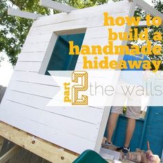 handmade hideaway Archives - The Handmade Home Playhouse Kits, Build A Playhouse, Wooden Playhouse, Indoor Playhouse, Simple Playhouse, Outdoor Playhouses, Building A Shed, Building Plans, Cedar Fence Boards