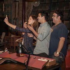 Katharine McPhee, Elyes Gabel and Ari Stidham at the Season 2 Premiere of Scorpion.