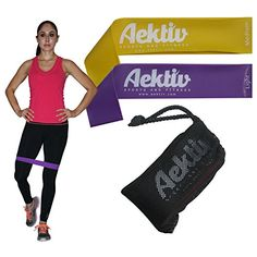 Exercise Resistance Bands  Set of 2 Best Physical Therapy Bands Resistance loop Bands for Stretching Crossfit  Strength Training *** Continue to the product at the image link.