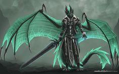 Lightning or Sword by Blacktalons / http://blacktalons.deviantart.com/art/Lightning-or-Sword-369051400