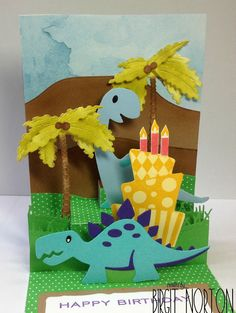 Crafting While I Wait: Cupcake Inspirations Challenge #403 ~ Dinosaur Pop-Up Fun!