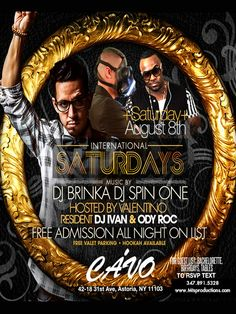 cavo astoria   Saturday at Cavo Astoria Everyone Free All Night on The Guestlist - VIP & Free birthday packages available. Celebrate your Birthday Saturday at Cavo in Astoria 42-18 31st Ave, Queens NY 11103 For Details ---> http://mtsproductions.com/cavo-astoria/