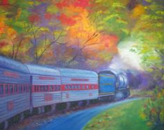 Último tren: Pared moderno colorido arte por AfremovArtStudio