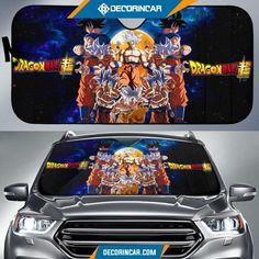 Dragon Ball Anime Car Sunshade DB Goku Saiyan Forms Blue Lightning Sky Sun Shade