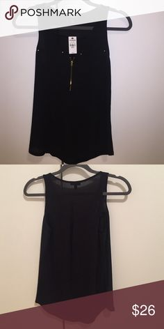 express half zip tank brand new with tags attached. never worn. great for work or a night out! Express Tops Blouses