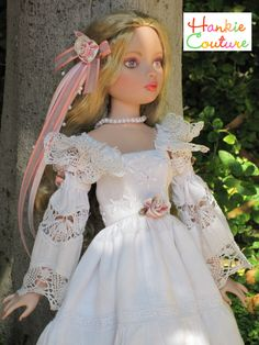 See web page of nineteen spring and summer fashions for Ellowyne Wilde doll, all designed by Marsha of Hankie Couture: http://nancyleemoran.com/UniqueDoll/EllowyneWildeHankieCouture.php ♡♡♡ doll face painting by Nancy Lee Moran