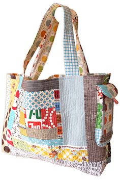 quilted tote bag idea