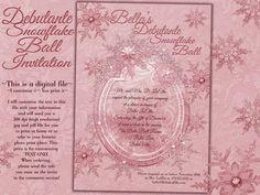 Sweet 16 Winter Snowflake Ball Invitation Winter by BellaLuElla