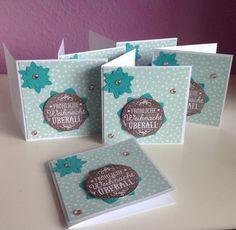 Stempelmädels: 10x10 Karte zu Weihnachten