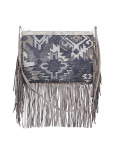 Suede bag with handle-hand shoulder, printed with ethnic patterns by #Almala