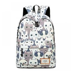 CIKER Women Backpack For Teenage Girls School Bags Rucksack Waterproof Cute Cat Printing Backpack Travel Bags Mochila. Product ID: Music Backpack, Cat Backpack, Backpack Travel Bag, Backpack For Teens, Fashion Backpack, Travel Bags, Floral Backpack, Travel Trip, Travel Fashion