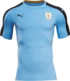 0e35c69ed61 Puma hand their South American team of Uruguay passionate home and away  shirts for the 2016 Copa America Centenario.