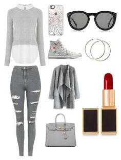 """Sans titre #2843"" by yldr-merve ❤ liked on Polyvore featuring Oasis, Topshop, Converse, Casetify, CÉLINE, Chicwish, Hermès and Tom Ford"