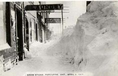 April 1917 snowstorm, Porcupine ON ( Timmins ) April 3, Quebec, Ontario, Bears, Canada, History, City, Places, Outdoor