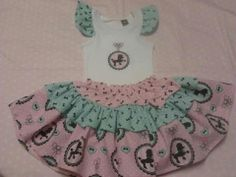 Retro Kitty Poodle skirt and ruffle sleeve top set,  Perfect for every little rock n roll ruby  or hot rod kitty.