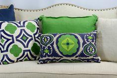A wonderfully curated pillow collection! Beachview Event Rentals & Design | www.beachview.net