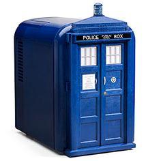 TARDIS mini fridge! I wonder if it's smaller on the outside!?
