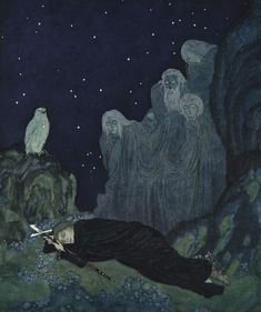 A Circle of Mist (Stealers of Light by the Queen of Romania) - Edmund Dulac - WikiPaintings.org