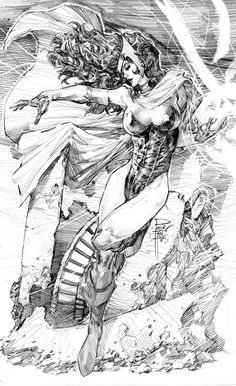 Scarlet Witch - Marvel Comics - Avengers - Wanda Maximoff - by Philip Tan