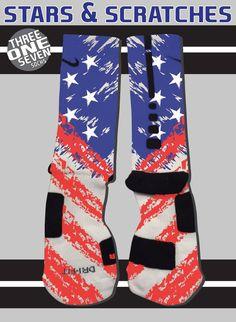 Stars & Scratches Socks - Nike Elite Socks