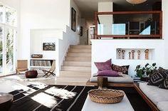 home, house, and interior kép Interior Exterior, Home Interior, Interior Architecture, Interior Decorating, Sunken Living Room, Home Living Room, Living Spaces, Living Area, Interior Inspiration