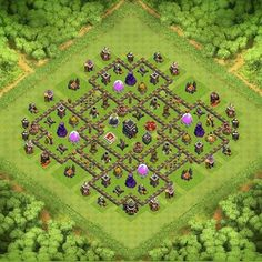 TH9 The Castle Transformer TH 9 Clash of Clans Base Layout