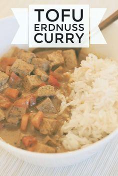gesund & vegan: Curry mit Erdnuss und Tofu #vegan #curry  http://melaniekristina.de/2016/11/23/curry-mit-tofu/