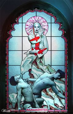 LLady gaga depicting the Mother of harlots. Fornication with the saints.