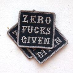 Zero. Fucks. Given.