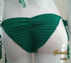 "Crochet bikini ""Verde bandeira"""