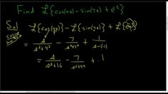 Finding the Laplace Transform of f(t) = cos(4t) - sin(7t) + e^(-t)