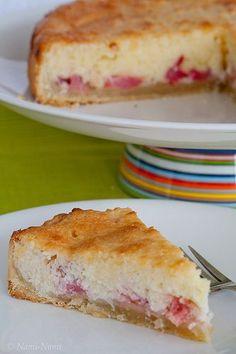 tarte à la rhubarbe et à la noix de coco