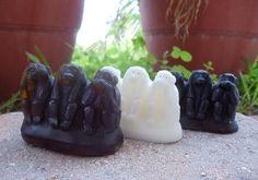 MONKEY SOAP GIFT - three wise monkeys - lake house guest bathroom soaps