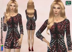 Just for your sims: Embellished Mini Dress • Sims 4 Downloads