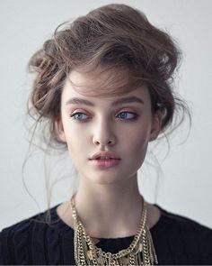Another beautiful capture of Polina Litvinova (@polina_litvinova) photographed by Alexey Kazantsev (@kazantsevalexey). Beauty:Anna Makushina (@makushine) by modelsmundo