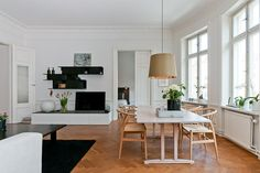A home in Sweden.    Photo from Hemnet Inspiration.
