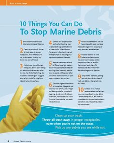 10 things you can do to stop Marine Debris Ocean Ecosystem, Beach Clean Up, Marine Debris, Global Awareness, See World, Save Our Oceans, Marine Environment, Marine Conservation, Plastic Pollution