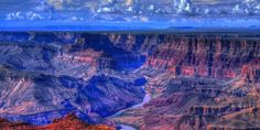 5 Must-See views Around the Grand Canyon #travel #roadtrips #roadtrippers. North Canyon. Glen Canyon-early afternoon (sunlight fills and reflects off rock walls). Cape Royal. South Canyon. Pipe Creek Vista. Yavapai Point. Havasopai Falls (red rock walls, deep blue water).