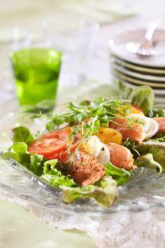 Caprese Salad, Fresh Rolls, Tuna, Salads, Fish, Meat, Ethnic Recipes, Koti, Finland