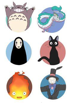 Studio Ghibli Circle Stickers