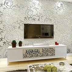 schlichtheit europisch heim tapete umweltschutz vliestapete fr wohnzimmer tv kulisse mustertapete grau silber - Muster Tapete Wohnzimmer