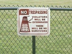 Doctor Who references are everywhere :)