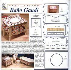 1:6 Bathroom,Salon & Spa Mis Trabajos en miniatura: Baño Gaudí