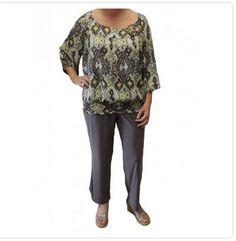 Multi Couleur Peplum plissé manches Femme Taille 10-20